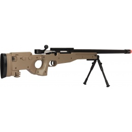 UK Arms Bolt Spring Airsoft Sniper Rifle w/ Folding Stock - TAN