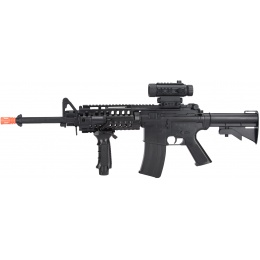Firepower F4-D Polymer M4 Low-Powered AEG Airsoft Rifle - BLACK