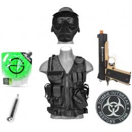 AMS CO2 Package: 1911 CO2 Pistol + LT Cross Vest + Essentials