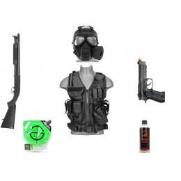 AMS Gas CQB Package: 1X HFC M9 Pistol + DE M58A + LT Cross Vest