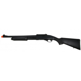 Golden Eagle M870 Tri-Burst Gas Pump Action Airsoft Shotgun - BLACK