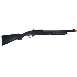 Golden Eagle M870 Tri-Burst Gas Pump Action Airsoft Shotgun - BLACK