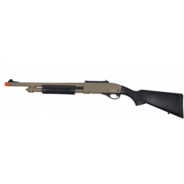 Golden Eagle M870 Tri-Burst Gas Pump Action Airsoft Shotgun - TAN