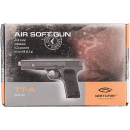 Gletcher Full Metal CO2 Blowback Airsoft TT-A Pistol - BLACK