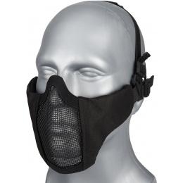 G-Force Low Carbon Steel Mesh Nylon Lower Face Mask - BLACK