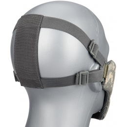WoSport Low Carbon Steel Mesh Nylon Lower Face Mask - ACU