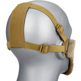 G-Force Low Carbon Steel Mesh Nylon Lower Face Mask - AT
