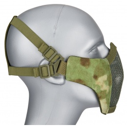 WoSport Low Carbon Steel Mesh Nylon Lower Face Mask - AT-FG