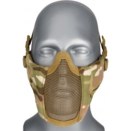 WoSport Low Carbon Steel Mesh Nylon Lower Face Mask - CAMO