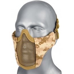WoSport Low Carbon Steel Mesh Nylon Lower Face Mask - DESERT DIGITAL