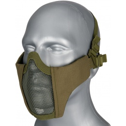G-Force Low Carbon Steel Mesh Nylon Lower Face Mask - OLIVE DRAB