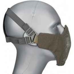 WoSport Low Carbon Steel Mesh Nylon Lower Face Mask - GRAY