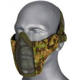 WoSport Low Carbon Steel Mesh Nylon Lower Face Mask - GREENZONE