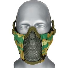 WoSport Low Carbon Steel Mesh Nylon Face Mask - WOODLAND DIGITAL
