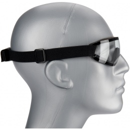UK Arms Airsoft Low Profile Regulator Goggles - CLEAR
