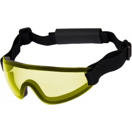 UK Arms Airsoft Low Profile Regulator Goggles - YELLOW