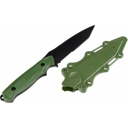 AMA Rubber Bayonet Knife w/ ABS Plastic Sheath Cover - OLIVE DRAB