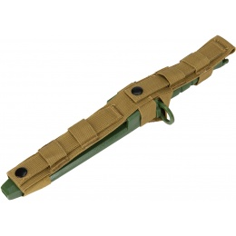 AMA Tactical Dummy Bayonet w/ Blade Cover for M4/M16 - OLIVE DRAB