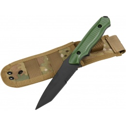 AMA Rubber Plastic Training Knife w/ Sheath Holster - OLIVE DRAB