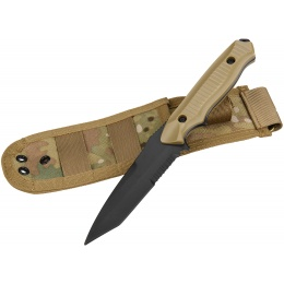AMA Rubber Plastic Training Knife w/ Sheath Holster - TAN