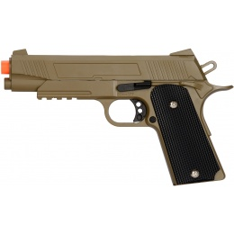 UK Arms Spring Metal 1911 Airsoft Training Pistol - DARK EARTH