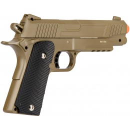 UK Arms Spring Metal 1911 Airsoft Training Pistol - DARK EARTH