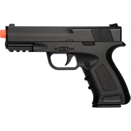 UK Arms Spring Compact Metal Airsoft Training Pistol - BLACK