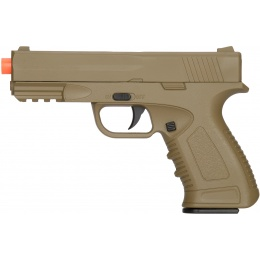 UK Arms Spring Compact Metal Airsoft Training Pistol - DARK EARTH