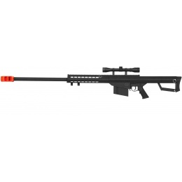 Lancer Tactical Airsoft M82 Spring Sniper Rifle w/ Scope - BLACK