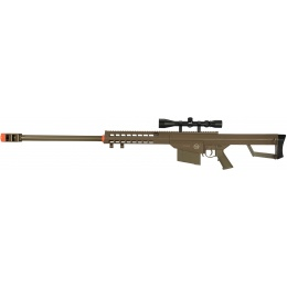 Lancer Tactical Airsoft M107 Spring Sniper Rifle w/ Scope - DARK EARTH
