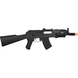 Lancer Tactical Metal AK47 Assault AEG Airsoft Rifle - BLACK