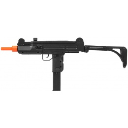 WellFire ABS Plastic UZI CQB Airsoft SMG w/ Stock - BLACK