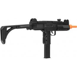 WellFire ABS Plastic UZI CQB Airsoft SMG w/ Stock - BLACK