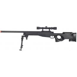 AGM Airsoft MK96 Bolt Action Sniper Rifle w/ Scope & Bipod - BLACK