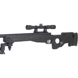 AGM Airsoft MK96 Bolt Action Sniper Rifle w/ Scope & Bipod - BLACK