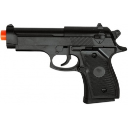 CYMA Metal Spring Powered Airsoft Compact M9 Pistol - BLACK