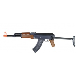 CYMA ZM93S Airsoft Full-Sized AK-47 w/ Folding Stock - BLACK/WOOD
