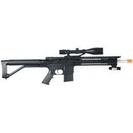 UK Arms Airsoft Spring Rifle w/ Attachments & P618 Pistol - BLACK