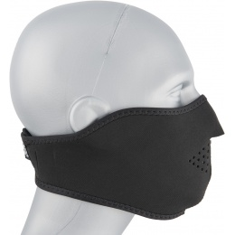Zan Headgear Airsoft Neoprene Polyester Half Mask - BLACK