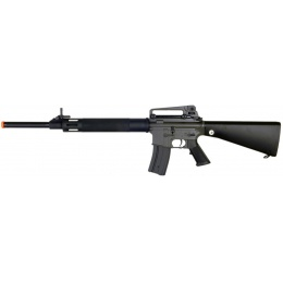 JG M16 AEG Metal Airsoft Rifle w/ Fixed Stock - BLACK