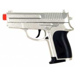 CYMA ZM01S Airsoft Compact Metal Spring Pistol - SILVER