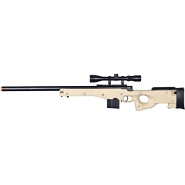 UK Arms Airsoft L96 AWP Bolt Action Rifle w/ Scope - TAN