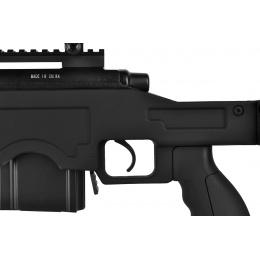 WellFire MB4411D Bolt Airsoft Sniper Rifle w/ Bipod - BLACK