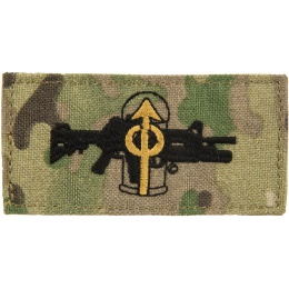 AMA M203 Frag Out Adhesive Quality Cordura Patch - CAMO