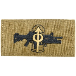 AMA M203 Frag Out Adhesive Quality Cordura Patch - TAN