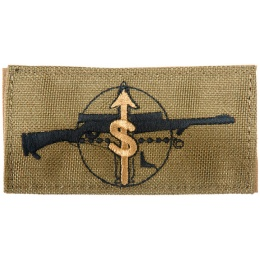 AMA Sniper Mission Adhesive Quality Cordura Patch - TAN