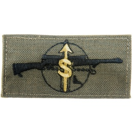 AMA Sniper Mission Adhesive Quality Cordura Patch - OLIVE DRAB