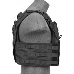 Lancer Tactical Speed Attack Nylon Plate Carrier Armor - BLACK