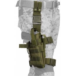 Lancer Tactical Tornado Dropleg Nylon Pistol Holster - OD