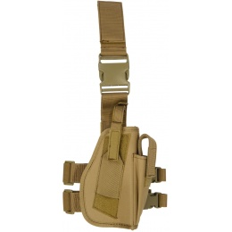 Lancer Tactical Airsoft Dropleg Nylon Holster Accessory - TAN